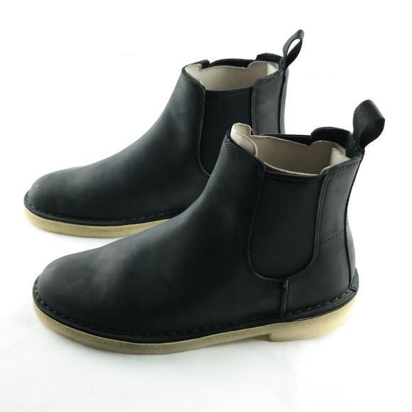 6ffbe609eb1 Clarks Desert Peak Ankle Boots Sz 7 Black NWT